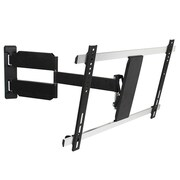 "Monoprice® 110481 Full Motion 15degree Tilt Wall Mount For 32""-60"" Flat Panels Up to 55 lbs., Black"