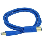 Monoprice® 3' Gold Plated USB 3.0 A Male to B Male 28/24AWG Cable, Blue