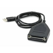 Monoprice® 4' USB to Parallel Converter Cable, Black