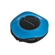 Monoprice® 4 Port USB 2.0 Mini Travel Hub, Blue
