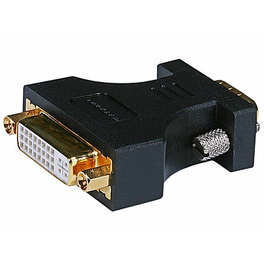 Monoprice 102397 VGA to DVI-A Adapter, Black