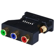 Monoprice® DVI-I Male to 3 RCA Component Adapter With DIP Switch For ATI Video Cards, Black