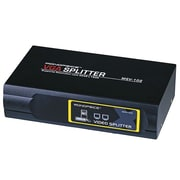 Monoprice® 400 MHz 2 Way VGA/SVGA Splitter/Amplifier/Multiplier, Black