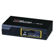 Monoprice® 400 MHz 4 Way VGA/SVGA Splitter/Amplifier/Multiplier, Black