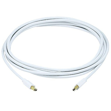 Monoprice® 10' Mini DisplayPort Male to Male 32AWG Cable, White
