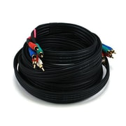 Monoprice® 25' 5-RCA Component 22AWG Video/Audio Coaxial Cable, Black
