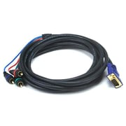 Monoprice® 12' VGA to 3-RCA Component Video Cable, Black