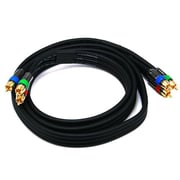 Monoprice® Premium 6' CL2 3-RCA Component 18AWG Video Coaxial Cable, Black