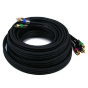 Monoprice® Premium 25' CL2 3-RCA Component 18AWG Video Coaxial Cable, Black