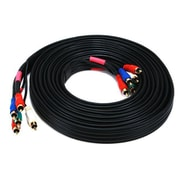 Monoprice® 15' 5-RCA Component 22AWG Video/Audio Coaxial Cable, Black