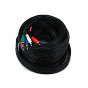 Monoprice® 35' 5-RCA Component 22AWG Video/Audio Coaxial Cable, Black