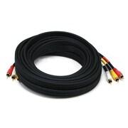 Monoprice® 25' Triple RCA Stereo Video Dubbing Composite Cable, Black
