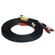Monoprice® 10' Triple RCA Stereo Video Dubbing Composite Cable, Black