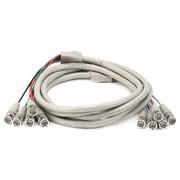 Monoprice® 10' 5 Pin BNC RGB to 5 Pin BNC RGB Video Cable, Beige