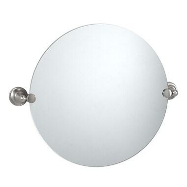 Gatco Tiara Circular Wall Mirror; Satin Nickel