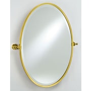 Afina Radiance Gear Tilt Mirror; Polished Brass