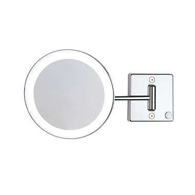 WS Bath Collections Mirror Pure III LED Lighted 3x Magnifying Makeup Mirror