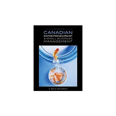 Canadian Entrepreneurship & Small Business Management, Used Book (9780070000209)