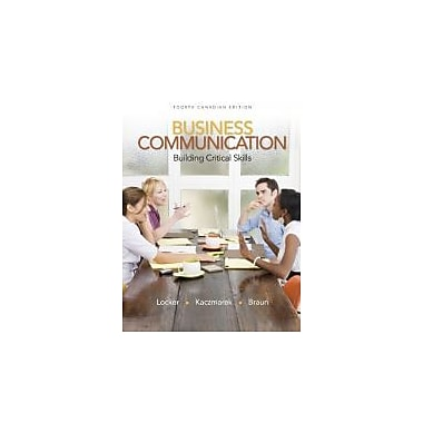 Business Communication: Building Critical Skills + CONNECT w/eText, Used Book (9780070918535)
