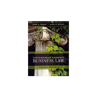 Contemporary Canadian Business Law, Eighth Edition, Used Book (9780070951600)