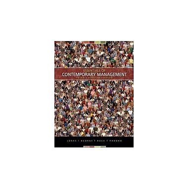 Essentials of Contemporary Management, Third CDN Edition [Paperback], New Book (9780070967434)