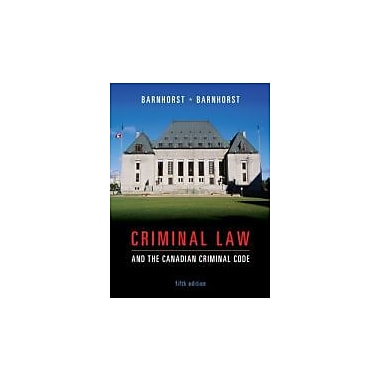 Criminal Law and the Canadian Criminal Code, New Book (9780070969353)