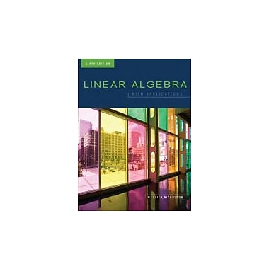 Linear Algebra with Applications, Used Book (9780070985100)