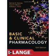 Basic and Clinical Pharmacology 12/E (LANGE Basic Science), anglais