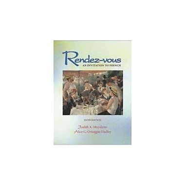 Rendez-vous Student Edition + Listening Comprehension Audio CD, Used Book (9780072499285)