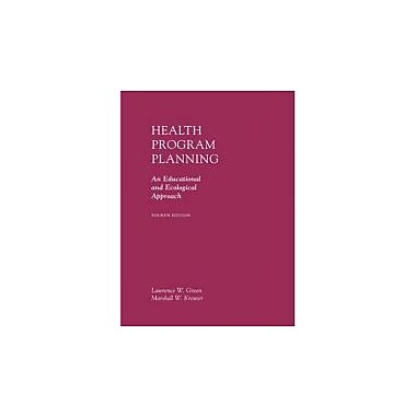 Health Program Planning: An Educational and Ecological Approach, New Book (9780072556834)