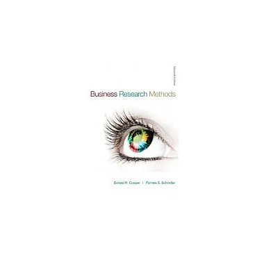 Business Research Methods (Mcgraw-Hill/Irwin), New Book (9780073373706)
