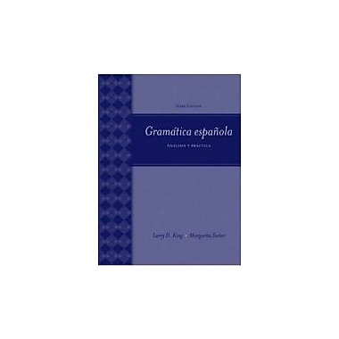 Gramatica Espanola: Analisis y Practica (9780073513133)
