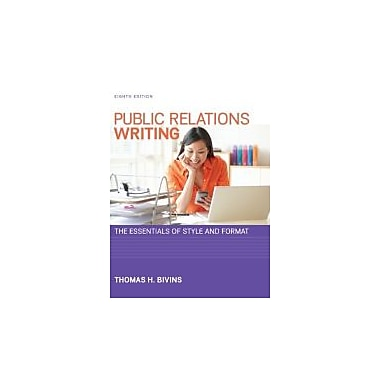 Public Relations Writing: The Essentials of Style and Format, Used Book (9780073526232)