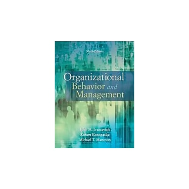 Organizational Behavior and Management, New Book (9780073530505)