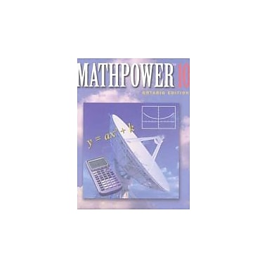 MATHPOWER 10 Ontario Edition, New Book (9780075529088)