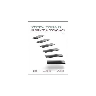 Statistical Techniques in Business & Economics with Connect Plus, New Book (9780077505011)