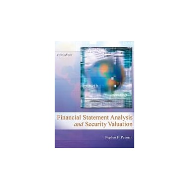 Financial Statement Analysis and Security Valuation, New Book (9780078025310)