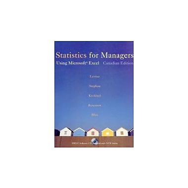 Statistics for Managers: Using Microsoft Excel, First Canadian Edition, New Book (9780130390288)