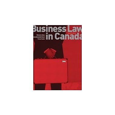 Business Law in Canada, Used Book (9780131206823)