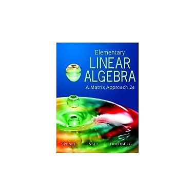Elementary Linear Algebra (2nd Edition), New Book (9780131871410)