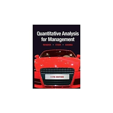 Quantitative Analysis for Management (11th Edition), New Book (9780132149112)