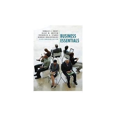 Business Essentials, Sixth Canadian Edition, with MyBusinessLab (6th Edition), New Book (9780132479769)