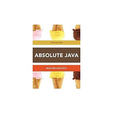 Absolute Java (5th Edition), New Book (9780132830317)