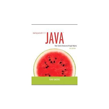 Starting Out with Java: From Control Structures through Objects (5th Edition), New Book (9780132855839)
