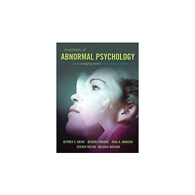 a course on abnormal psychology Psy 2010, abnormal psychology 1 course description explores the definition of abnormal behavior and causes, classifications, and assessments for psychological disorders.
