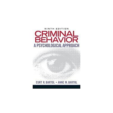 Criminal Behavior: A Psychological Approach (9th Edition), New Book (9780135050507)