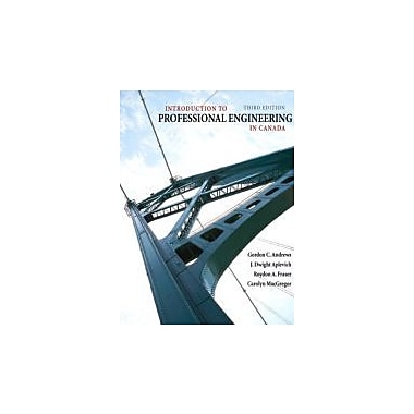 Introduction to Professional Engineering in Canada, Third Canadian Edition (3rd Edition), Used Book (9780135153604)