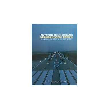 Contemporary Business Mathematics with Canadian Applications, New Book (9780136118411)