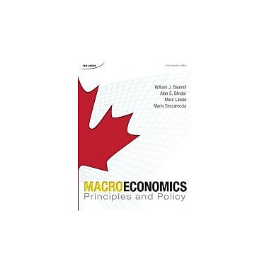 Macroeconomics: Principles & Policy, New Book (9780176252557)