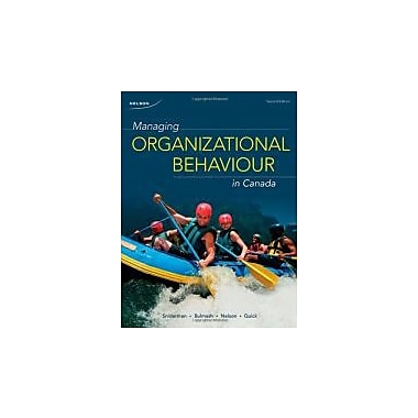 Managing Organizational Behaviour in Canada, New Book (9780176500047)